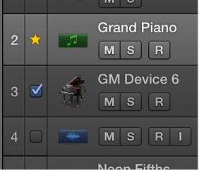 Figure. Checkboxes for tracks to match the groove track.