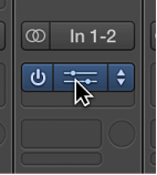 Figure. Placing the pointer over the center of a plug-in slot, to open the plug-in window.