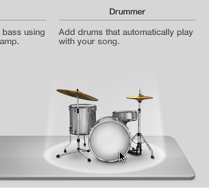 Figure. Drummer icon in the New Tracks dialog.
