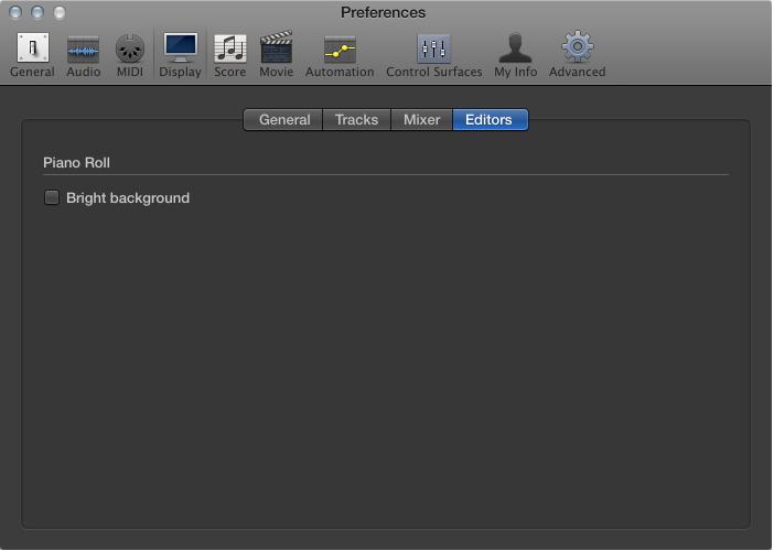 Figure. Editors Display preferences.