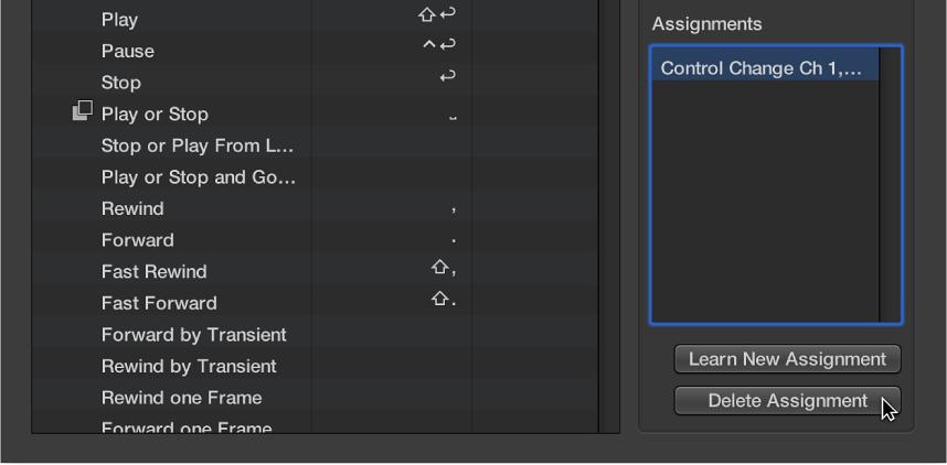 Ilustración. Se está eliminando una asignación de un controlador.
