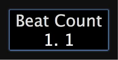 """Abbildung. Bildschirmsteuerung """"Beat-Count"""" im Arbeitsbereich"""
