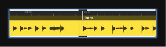 Abbildung. Bildschirmsteuerung für Wellenform mit Wellenform einer Audiodatei