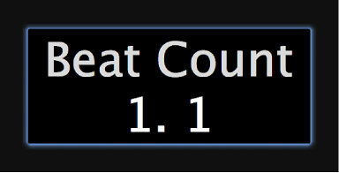 Figure. Beat counter screen control in the workspace.