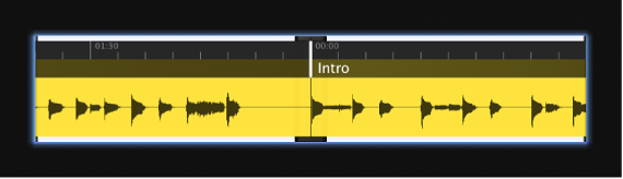 Figure. Waveform screen control showing the audio waveform.