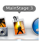 Figure. The MainStage icon in the Dock.
