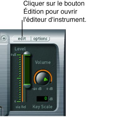 Figure. Fenêtre du module EXS24 avec bouton d'édition.