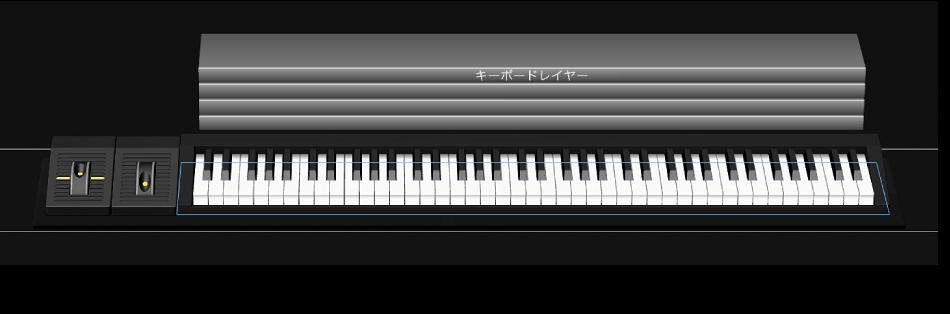 図。 シェルフコントロールを選択すると配置ガイドが表示される。