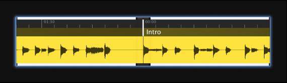 図。 オーディオの波形が表示された「Waveform」スクリーンコントロール。