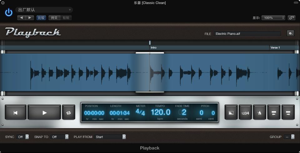图。 Playback 插件,显示音频文件的波形。