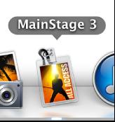图。 Dock 中的 MainStage 图标。