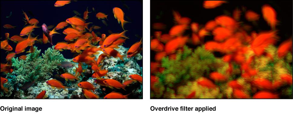 """Canvas mit dem Effekt des Filters """"Übersteuern"""""""