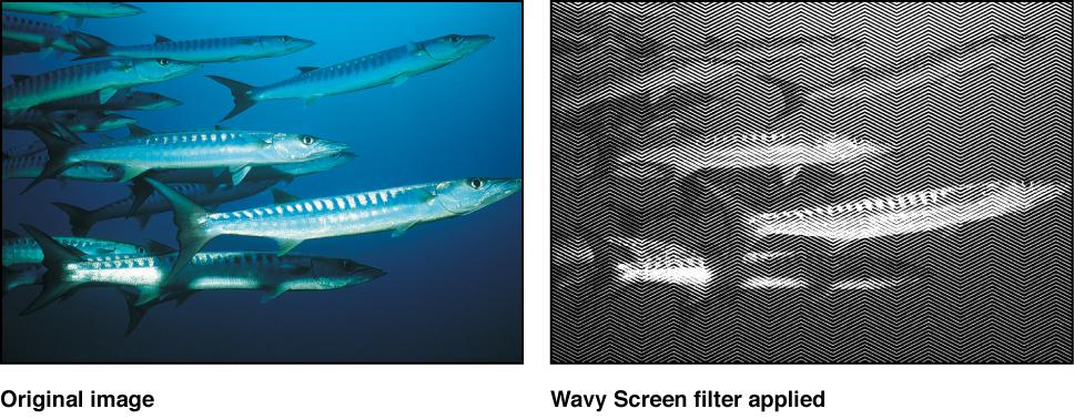 """Canvas mit dem Effekt des Filters """"Wellige Ansicht"""""""