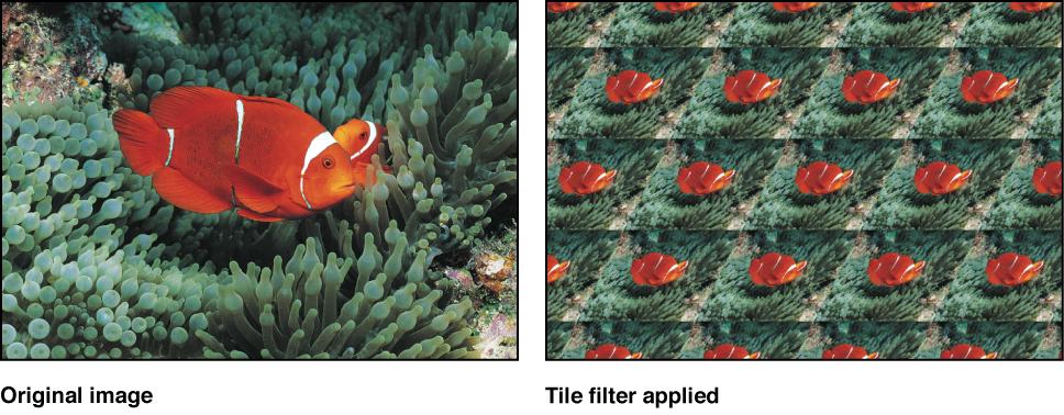 "Canvas mit dem Effekt des Filters ""Kacheln"""