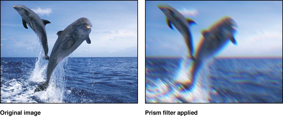 """Canvas, der den Effekt des Filters """"Prisma"""" zeigt."""