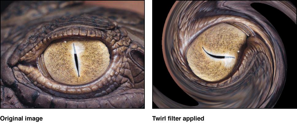 """Canvas mit dem Effekt des Filters """"Wirbeln"""""""
