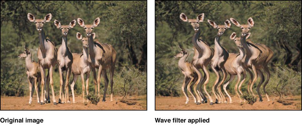"""Canvas mit dem Effekt des Filters """"Welle"""""""