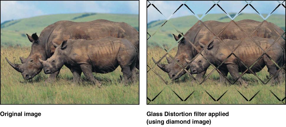 """Canvas mit dem Effekt des Filters """"Glas-Verzerrung"""""""