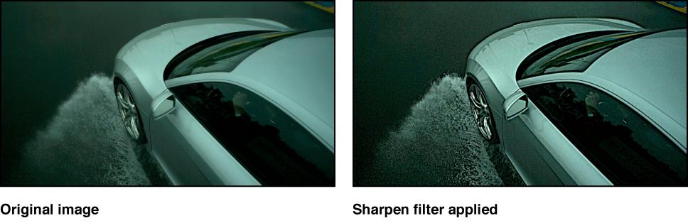 """Canvas mit dem Effekt des Filters """"Scharfzeichnen"""""""