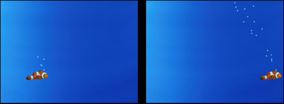 Canvas mit einem Partikelsystem, das einem anderen Objekt folgt.