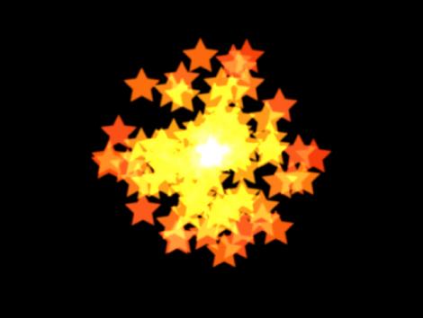 """Canvas mit einem Partikelsystem, dessen Form auf """"Punkt"""" eingestellt ist."""