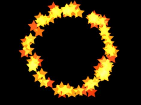 """Canvas mit einem Partikelsystem, dessen Form auf """"Kreis"""" eingestellt ist."""