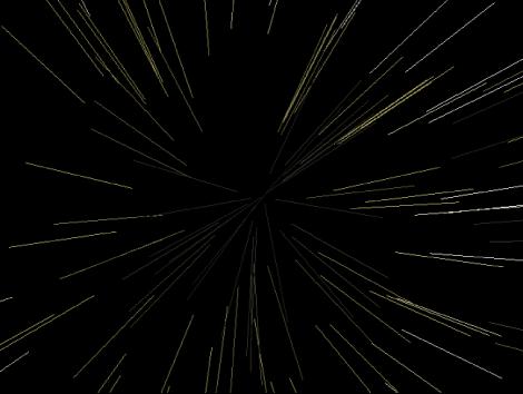 """Canvas mit einem Partikelsystem, bei dem """"Partikel zeigen als"""" auf """"Linien"""" eingestellt ist."""