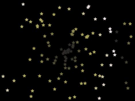 """Canvas mit einem Partikelsystem, bei dem """"Partikel zeigen als"""" auf """"Bild"""" eingestellt ist."""