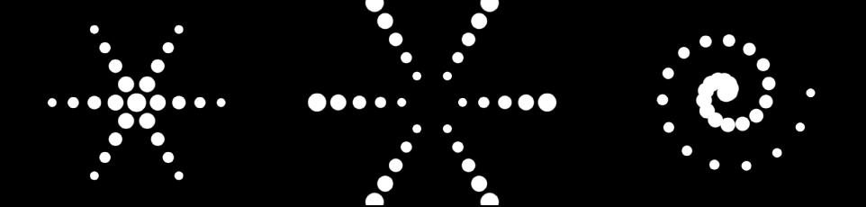 Canvas mit drei verschiedenen Beispielen für den gleichen Replikator.