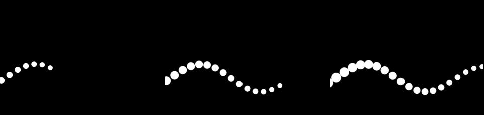 """Canvas mit einem Replikator, der einen mit Keyframes versehenen Parameter """"Versatz"""" enthält."""