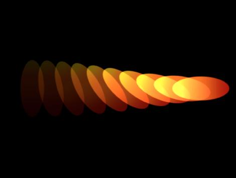 Canvas mit einem Replikator mit unterschiedlichen Einstellungen für die Deckkraft am Anfang und am Ende des Farbverlaufs.
