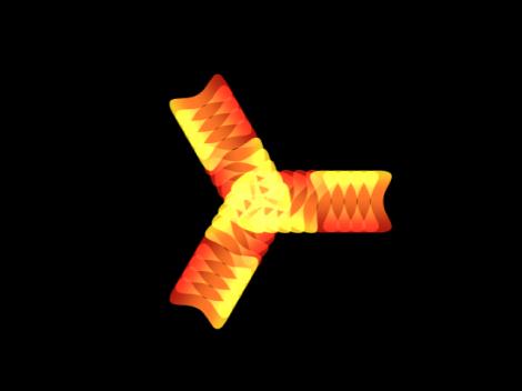 """Canvas mit einem Replikator, auf den ein Verhalten """"Sequenz-Replikator"""" angewendet wurde."""