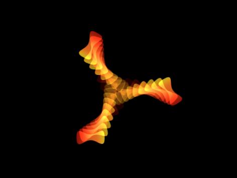 Canvas mit Replikator, bei dem die Deckkraft über die Dauer des Verhaltens animiert wird.