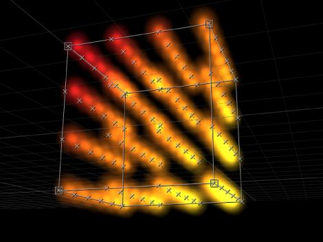 """Canvas mit einem Replikator, für den """"Box"""" als Form definiert und der Parameter """"Anordnung"""" auf """"Kachel"""" eingestellt wurde."""