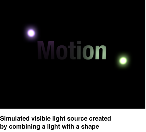 Canvas mit einer simulierten sichtbaren Lichtquelle.