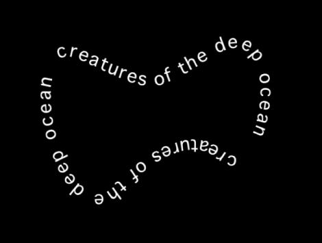 Canvas mit in fliegenförmiger Form angeordnetem Text.