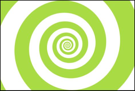 """Canvas mit dem Generator """"Spiralen"""", bei dem der Typ """"Klassisch"""" ausgewählt wurde"""