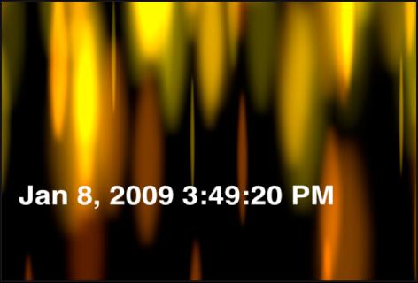 """Canvas mit dem Generator """"Uhrzeit Datum"""", der das Datum und die Uhrzeit in Stunden, Minuten und Sekunden anzeigt"""