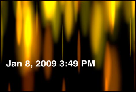 """Canvas mit dem Generator """"Uhrzeit Datum"""", der das Datum und die Uhrzeit in Stunden und Minuten anzeigt"""