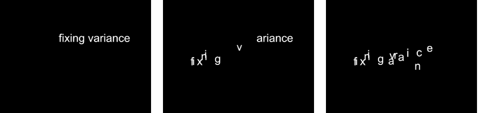 """Canvas mit dem Verhalten """"Sequenztext"""" mit einem auf """"Startpunkt"""" eingestellten Parameter """"Fest""""."""