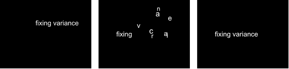 """Canvas mit dem Verhalten """"Sequenztext"""" mit einem auf """"Endpunkt"""" eingestellten Parameter """"Fest""""."""