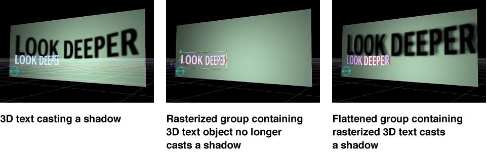 Canvas-Fenster mit den Auswirkungen der Rasterung auf Schatten.
