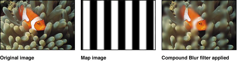 """Canvas mit dem Effekt des Filters """"Komplex weichzeichnen""""."""