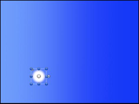 Canvas mit einem einfachen weißen Kreisobjekt.