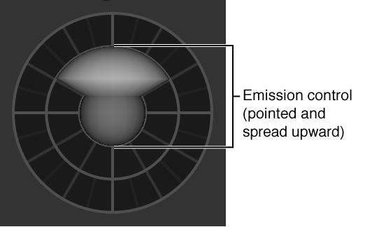 Schwebepalette mit 3D-Emittersteuerelementen.