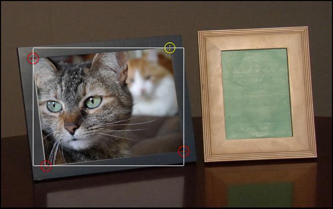 Canvas, in dem alle vier Tracker angepasst sind.