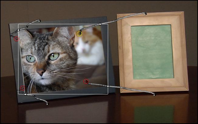 Canvas, in dem ein Objekt an ein Hintergrundobjekt angepasst ist.