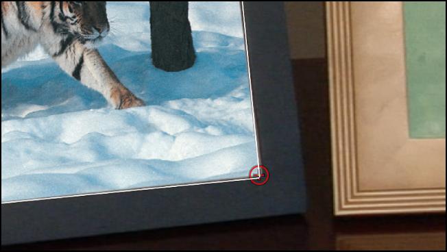 Canvas mit vier Trackern, die in jeder Ecke des Objekts positioniert sind.