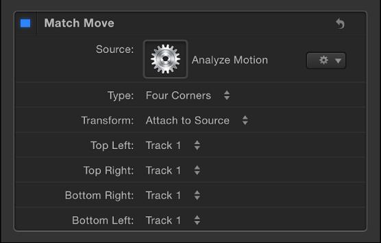 """Liste """"Tracker"""" im Informationsfenster """"Verhalten"""". Sie können mithilfe der Einblendmenüs eine andere Tracker-Reihenfolge auswählen."""