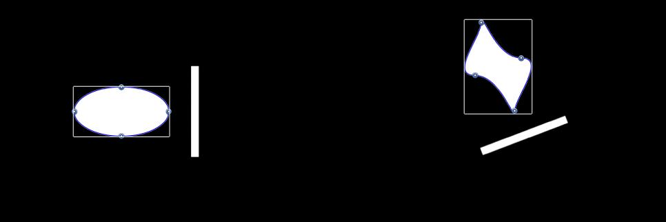 Canvas mit zwei Objekten, die zusammen bewegt werden, aber ihre ursprünglichen relativen Positionen beibehalten.